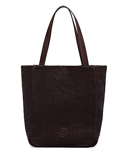 32f3a8e477 Massimo Dutti Women's Leather tote bag with plaited detail 6907/662 ...