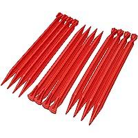 ToCi kunststof haringen 30 cm | tentharingen voor outdoor camping tenten tuin | tentnagels in rood