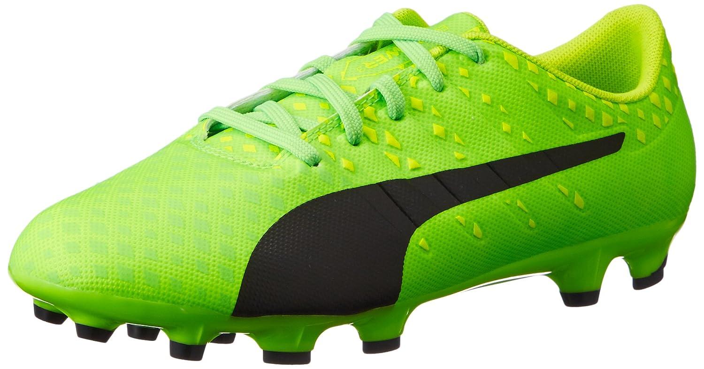 Puma Unisex-Kinder EvoPower Vigor 4 FG Jr Fußballschuhe, Grün (Green Gecko Black-Safety Yellow 01), 38.5 EU