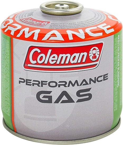Coleman C300 Performance Cartucho Gas con Valvula, para Cocina Camping, Compacto y Recipiente Sellable