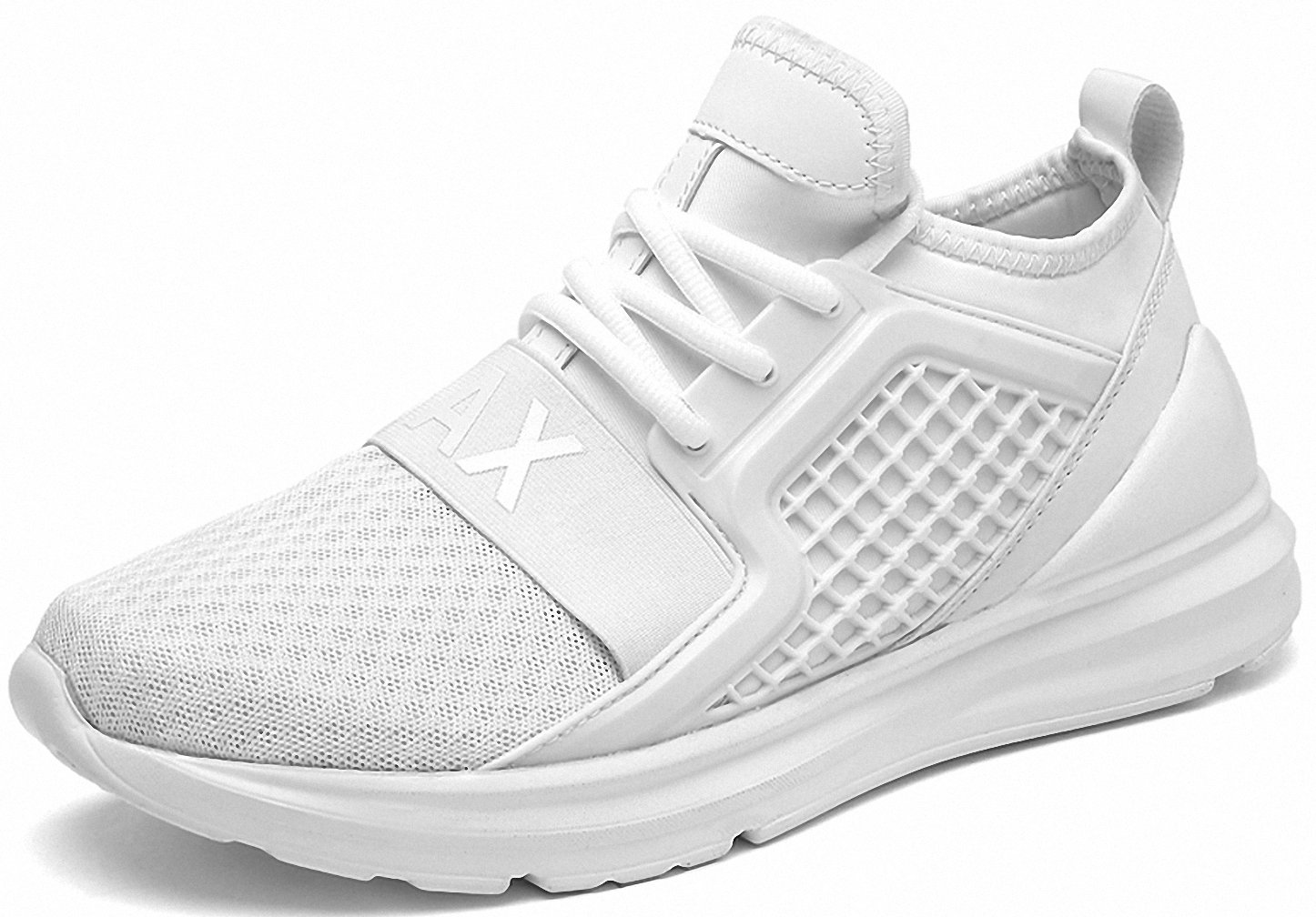 Weweya Men's Road Running Shoes Athletic Training Shoes Casual Walking Sneakers B07DNW6WVB 5 M US|White