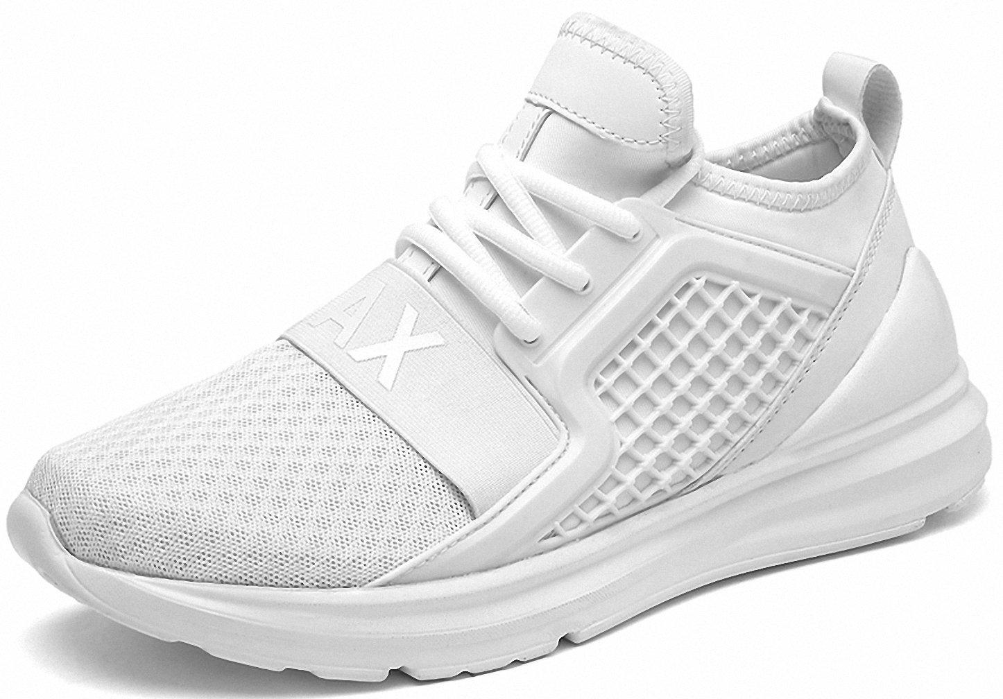 Weweya Men's Road Running Shoes Athletic Training Shoes Casual Walking Sneakers B07DNWFRWY 9 M US|White