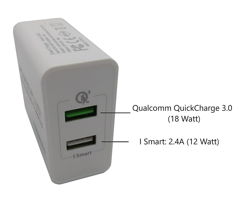 Qualcomm Quick Charge 3.0 y Apple Ismart 2.4A: Amazon.es ...
