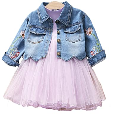 f162a9864 Amazon.com  YAO Spring Autumn Little Girls Clothing Set Child Kids ...