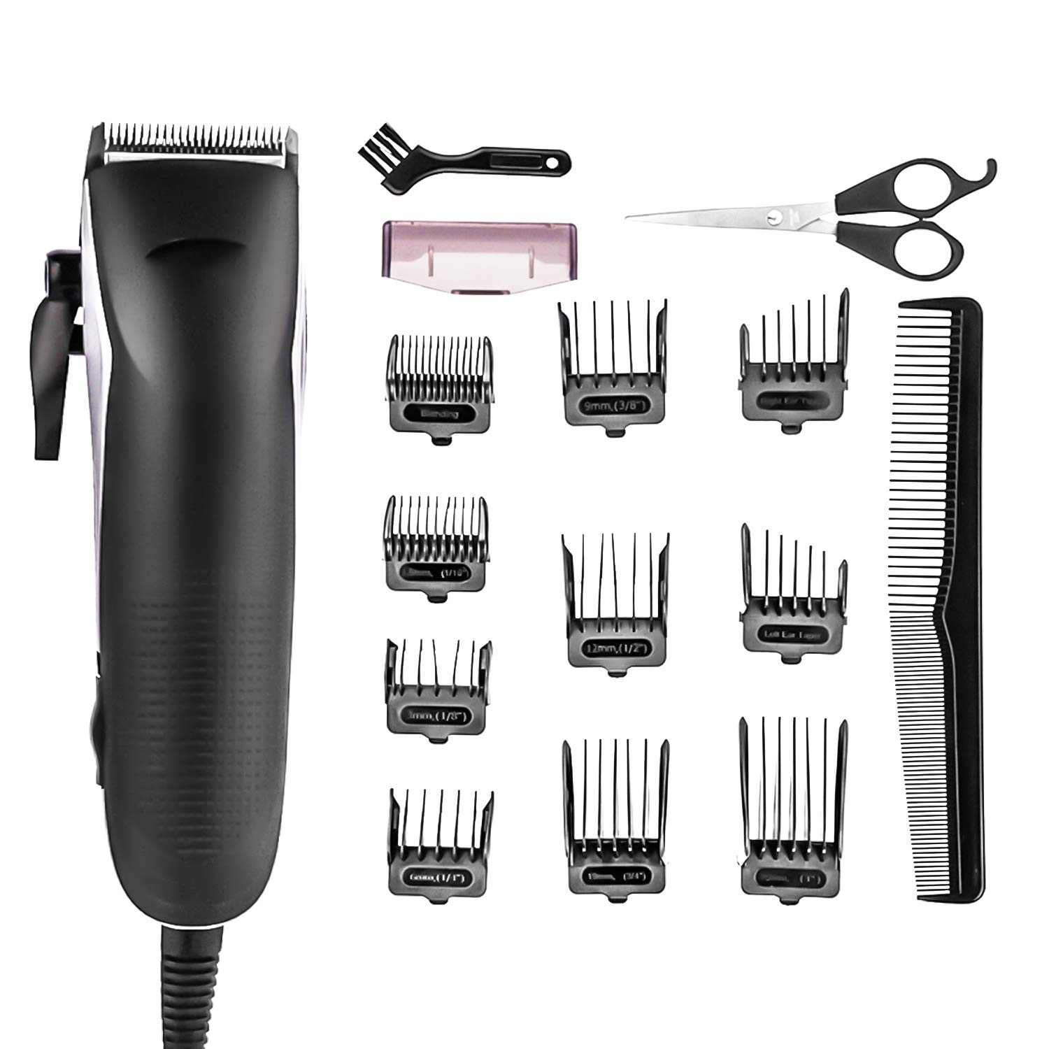 Xnuoyo Powerful Electric Hair Clippers and Beard Trimmer, All-In-One Manscaping Trimmer Electric Grooming Kit for Nose Ear Facial Hair Precision Trimmer