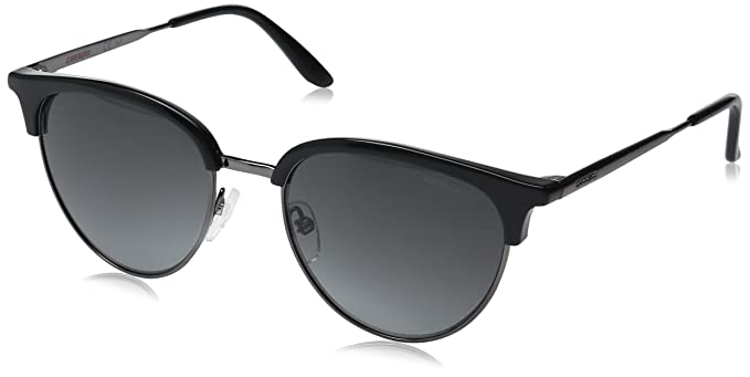 b3143d5158 Amazon.com  Carrera Men s Ca117s Round Sunglasses Dark Ruthenium Black Gray  Gradient 52 mm  Clothing