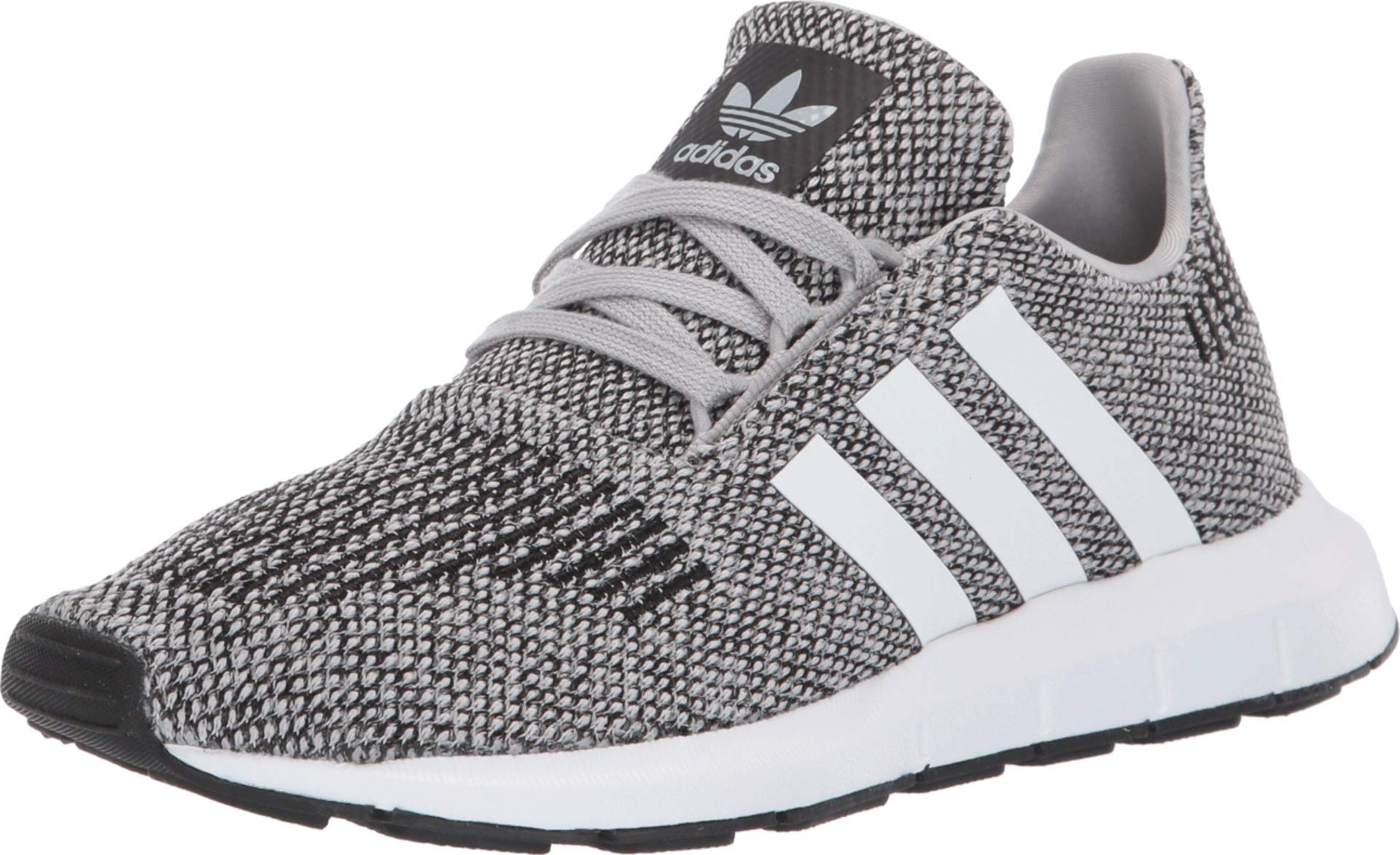 adidas Originals Kids Boy's Swift Run (Big Kid) Grey/White 3.5 M US Big Kid