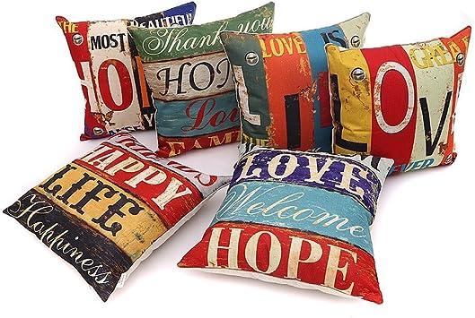 Amazon.com: HOSL PCom03 Serie LOVE funda decorativa para ...