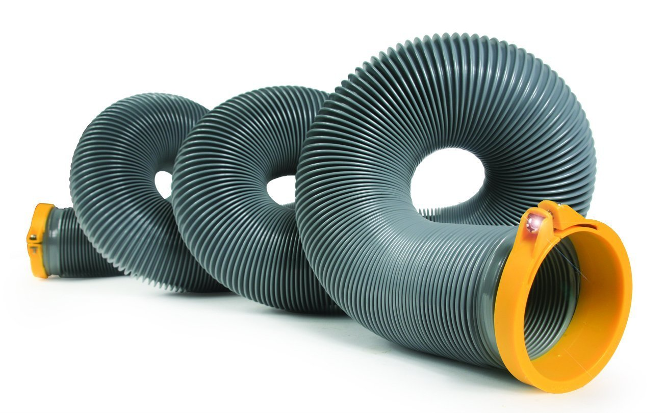 Camco 39901 HTS 15' Self Clamping RV Sewer Hose with 10 Sanitation Disposable Gloves