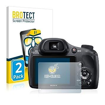 Anti-Huellas - HD-Transparente BROTECT Protector de Pantalla para Sony Cyber-Shot DSC-HX350 2 Unidades Anti-Burbujas
