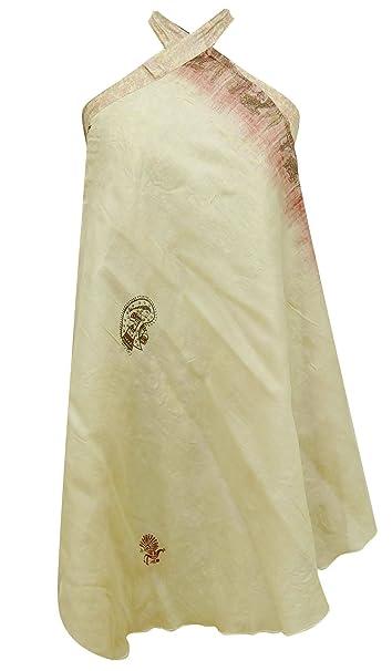 Falda Sari de Seda Vintage sólido Puro Modelo de Vestido Reversible Hippie mágico