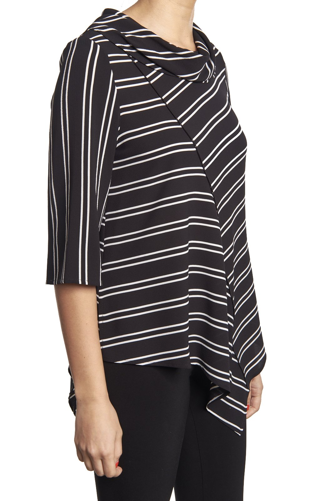 Joseph Ribkoff Striped Bias Cut Tunic Style 182931 Size 4 by Joseph Ribkoff