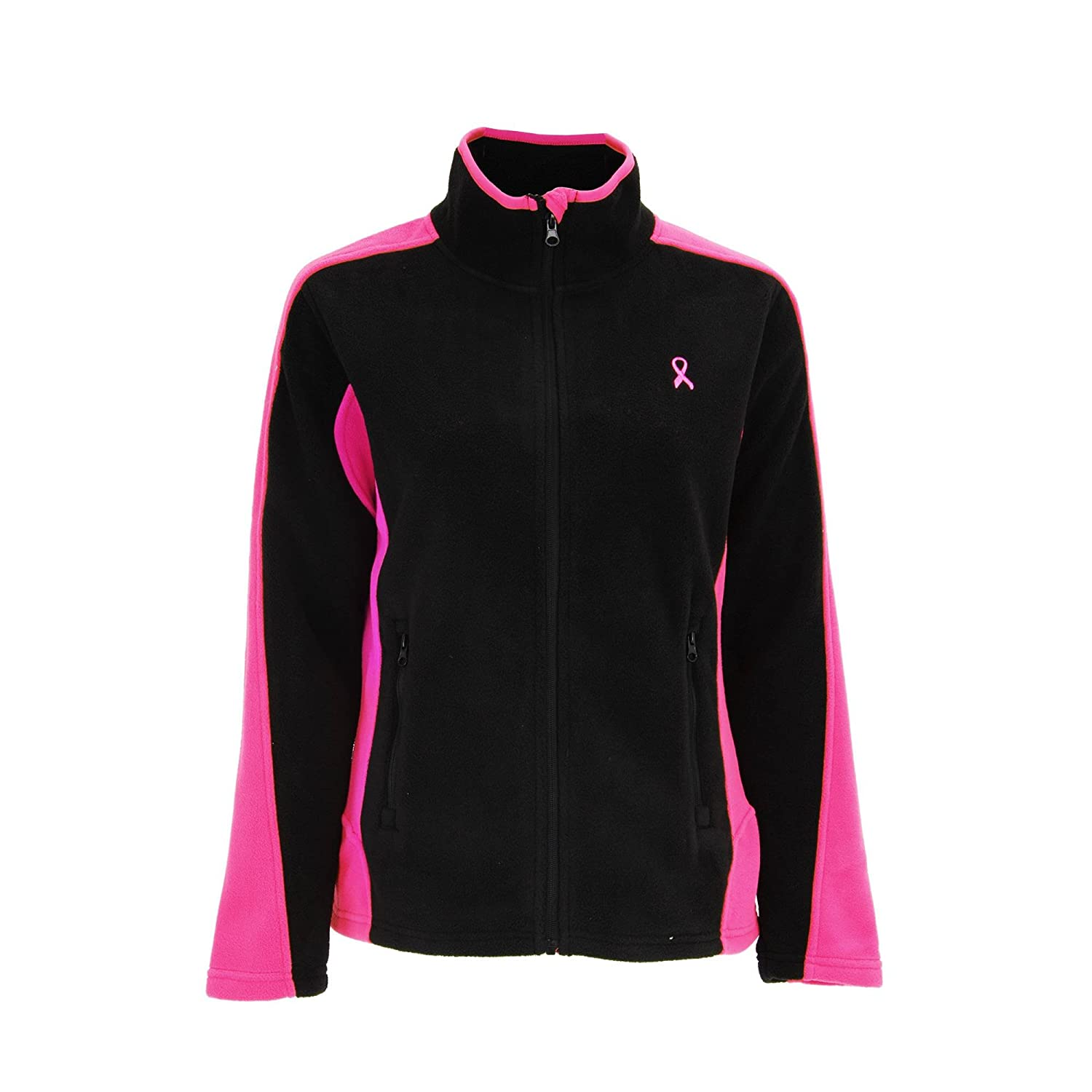 10f4f7484 GreaterGood Pink Ribbon Zip Fleece Jacket