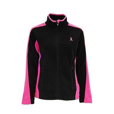 9bf092c6 GreaterGood Pink Ribbon Zip Fleece Jacket (S) at Amazon Women's ...