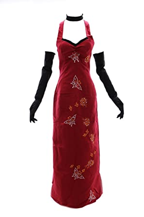 H u2013 Red Cosplay Costume 0 Resident Evil Ada Wong Chinese costume dress flower story -  sc 1 st  Amazon UK & H - Red Cosplay Costume 0 Resident Evil Ada Wong Chinese costume ...