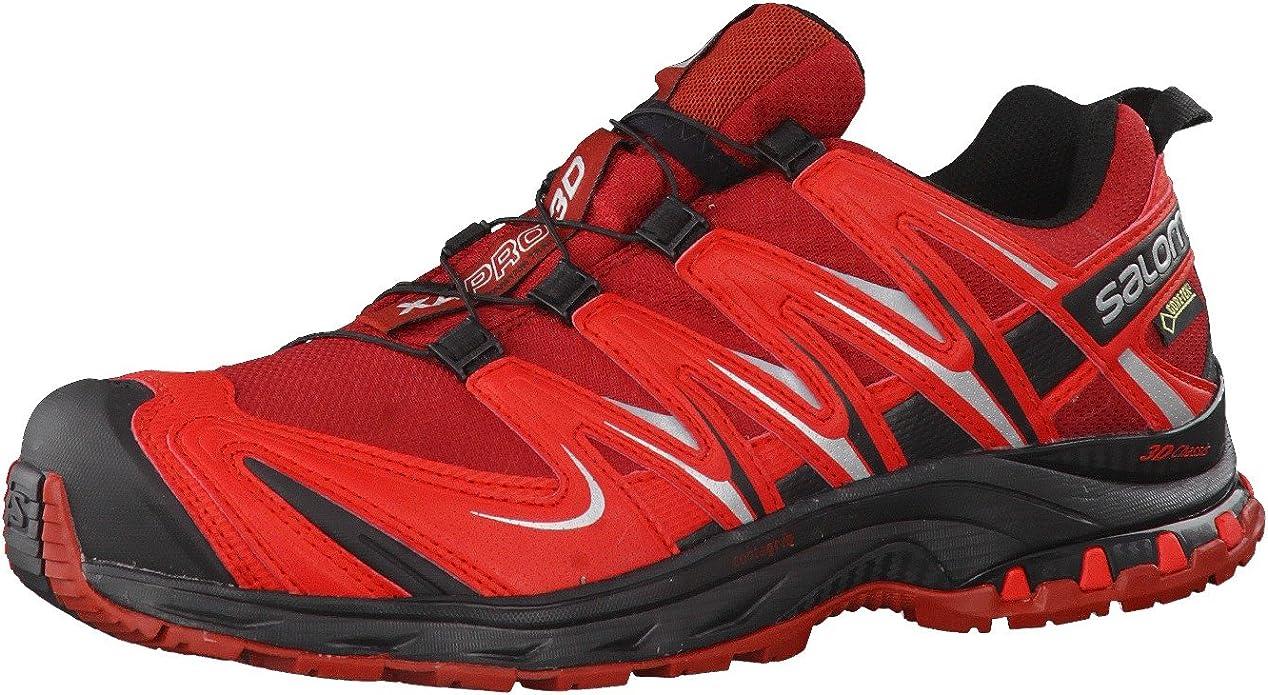 Salomon - Salomon XA Pro 3D GTX Flea Bright Red Black 13 Hombre, Color Rojo, Talla 47 EU (13 UK): Amazon.es: Zapatos y complementos