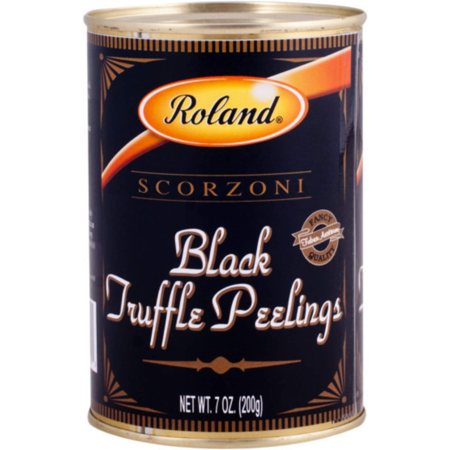 Roland Foods Black Scorzoni Summer Truffle Peelings, Specialty Imported Food, 7-Ounce Can