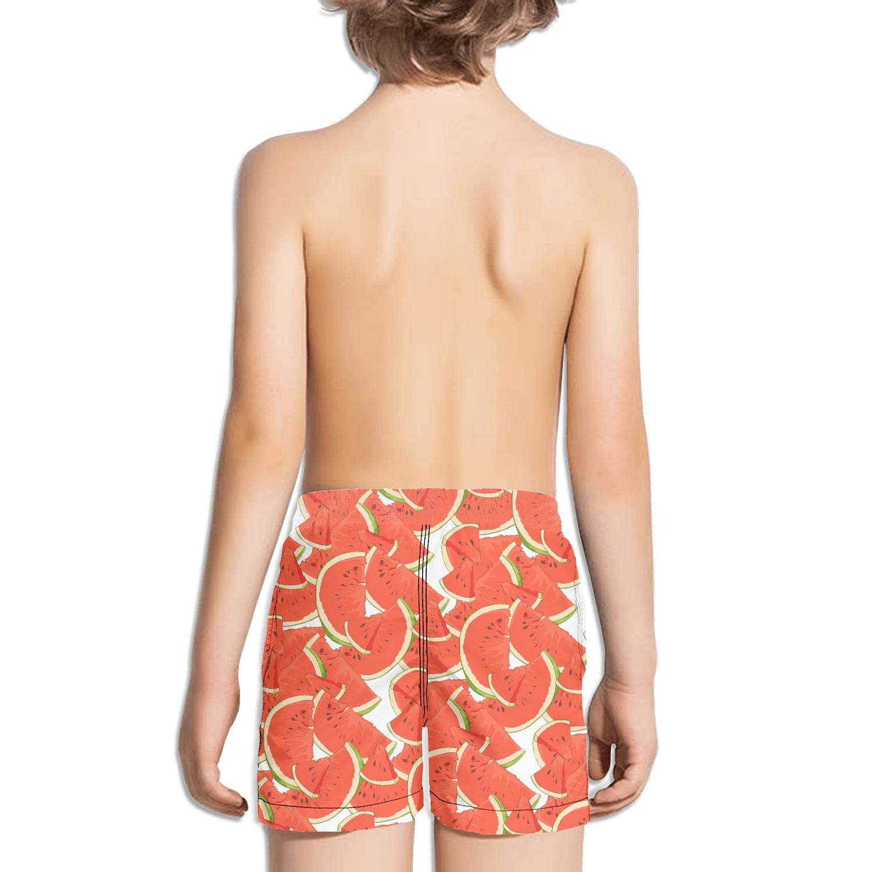 XULANG Kid Tropical Watermelon Fruit Black Board Shorts Surfing Skate Knee Length Boardshorts