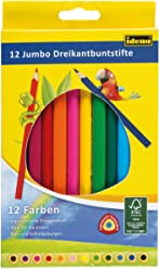 Idena 10322 - Jumbo Farbstifte, 12er Kartonetui