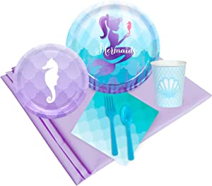BirthdayExpress Mermaids Under The Sea Party Supplies - Party Pack for 32
