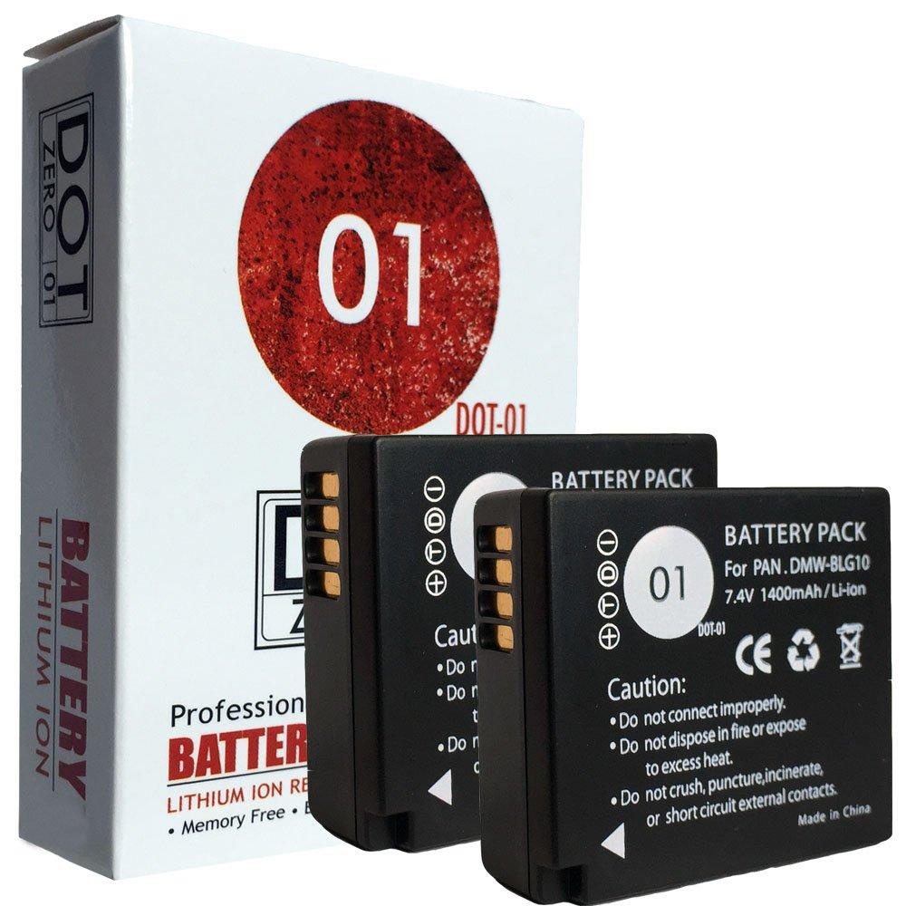 DOT-01 2x Brand Panasonic Lumix DC-GX9 Batteries for Panasonic Lumix DC-GX9 Mirrorless and Panasonic GX9 Battery Bundle for Panasonic BLG10 DMW-BLG10