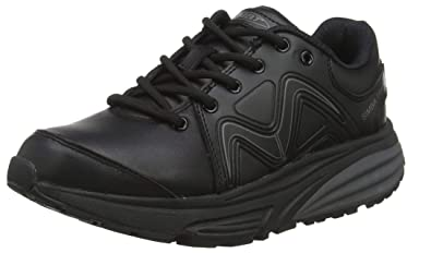 bb72f57d769b MBT Shoes Women s Simba Trainer Athletic Shoe  Black Black Leather 6 Medium  (