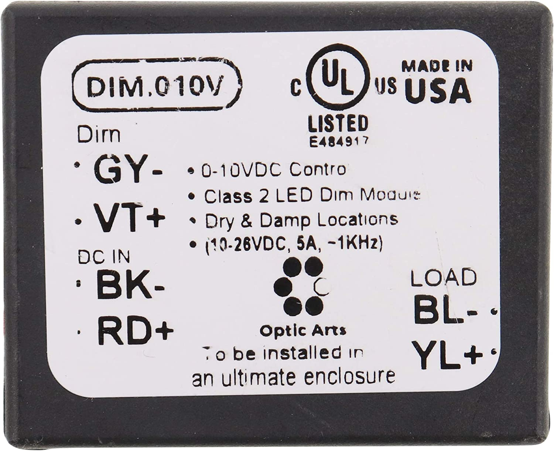 OptoArts DIM.010V LED Dimming Control Module for 0-10V Control
