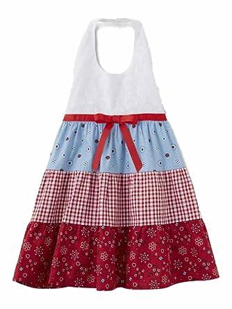 b2316325de5 Blueberi Infant   Toddler Girls Bandana Gingham Check Dress Halter Sundress  12m