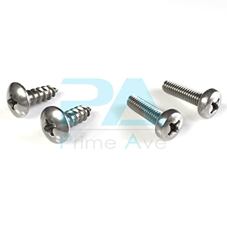 Amazon.com: PA Stainless Steel License Plate Screws For Hyundai & Kia (B (2011 or Newer Vehicle)): Automotive