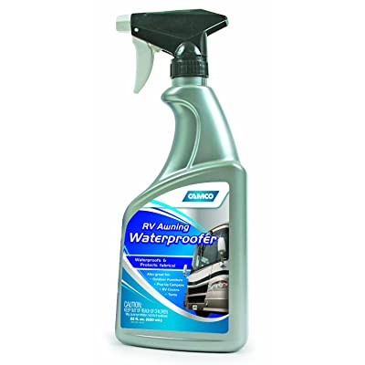 Camco Awning Waterproofer -Adds Water Repellent and Protects Fabrics from Water, Great For Waterproofing Outdoor and Patio Furniture, Tents, Awnings, RV and Vehicle Covers 22 oz (41072): Automotive