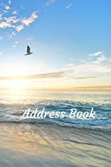 Address Book: With Alphabetical Tabs, For Contacts, Addresses, Phone, Email, Birthdays and Anniversaries (Beach) Paperback