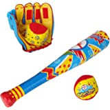 Baseball Bat Glove And Soft Ball Safety Colorful Sports Toy Set For Kids Childrens Toddler Boy Gifts