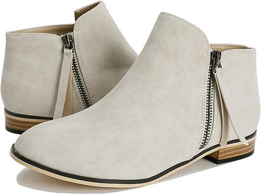 Mafulus Womens Ankle Boots Round Toe