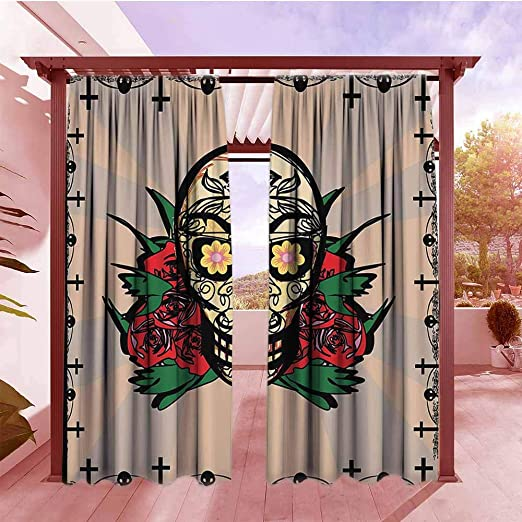 AndyTours Cortina para puerta corredera, decoración mexicana, cita cerca de la planta de cactus en forma