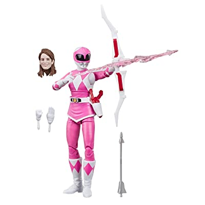 """Hasbro Power Rangers Lightning Collection 6"""" Mighty Morphin Pink Ranger Collectible Action Figure Toy with Accessories: Toys & Games"""