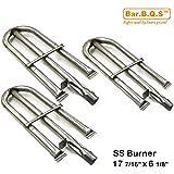 Bar.b.q.s 10191 (3-Pack) Gas Grill Parti di ricambio tubo in acciaio inox tubo del bruciatore per Perfect Fiamma Lowes 3019L, 3019 GNL; Perfetto Fiamma 3019L, Perfect Fiamma 3019 GNL