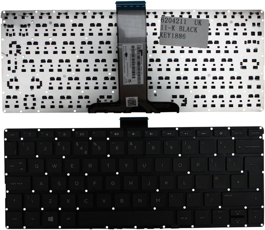 HP Pavilion 11-k021TU HP Pavilion 11-k022dx HP Pavilion 11-k022nr HP Pavilion 11-K022CY Keyboards4Laptops UK Layout Black Windows 8 Laptop Keyboard Compatible with HP Pavilion 11-k021dx