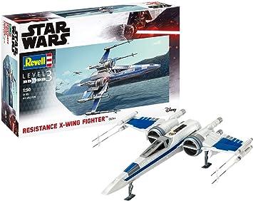 Revell-Resistance X-Wing Fighter, Escala 1:50 PoE Damarron Kit de Modelos de plástico, Multicolor, 1/50 06744/6744: Amazon.es: Juguetes y juegos
