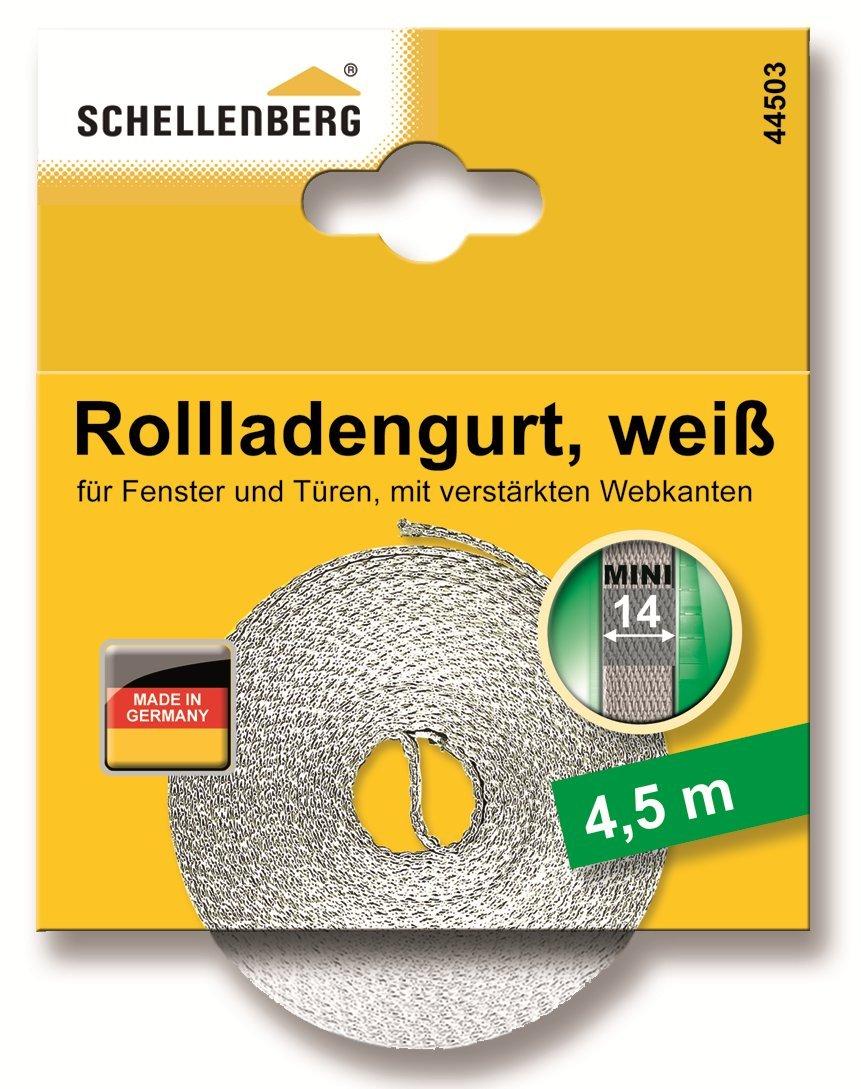 Schellenberg 44501 Sangle de volet roulant pour fen/être Largeur 14 mm Syst/ème Mini 4,5 m Beige