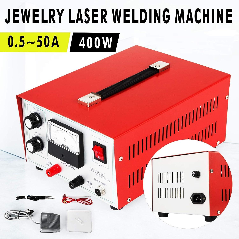 VEVOR Jewelry Spot Welder Machine 50A Welder Machine Laser Welder 400W Pedal Jewelry Welding Machine for Gold Silver Platinum Palladium Electric Soldering Accessories Tools