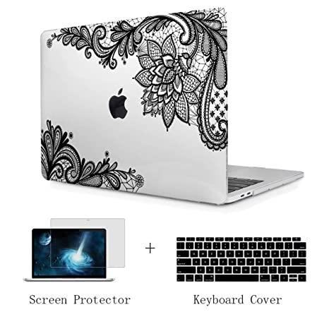 TwoL Case for MacBook Air 13 A1932, Ultra Slim Hard Shell Case and Keyboard Cover Screen Protector for New MacBook Air 13 2018 with Retina Display ...