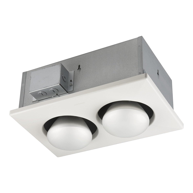 Broan 163 Type IC Infrared Two-Bulb Ceiling Heater without Fan, 250 Watt