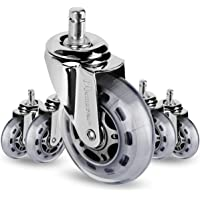 Mastery Mart Premium Caster Wheel Replacement for Office Chair, Heavy Duty, Floor Protecting, IKEA Stem Size 10x22 mm…