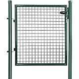 Songmics Cancelletto Giardino 100 x 106 cm Cancello Pedonale Barriera Modulabile GGD150G