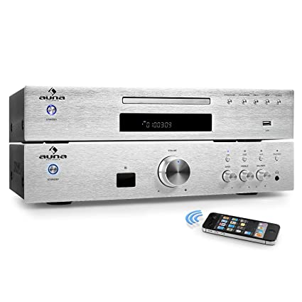 auna Elegance Tower Bluetooth Set Hi-Fi 2.0 (Amplificador estéreo 600W, Home Cinema