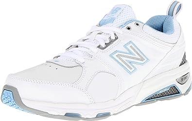 New Balance Women\u0027s WX857 Cross-Training Shoe,White/Blue,6 ...