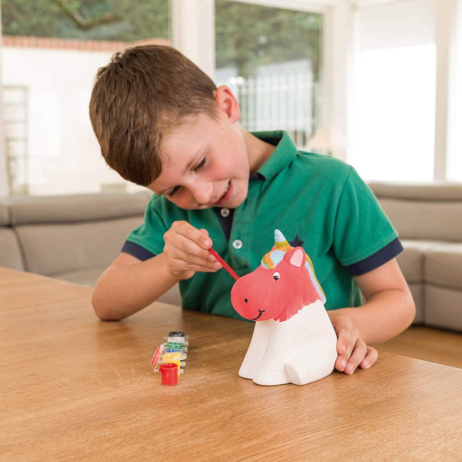 Licorne Made It Ensemble de Peinture Tirelire pour Enfants Peinture Artisanale