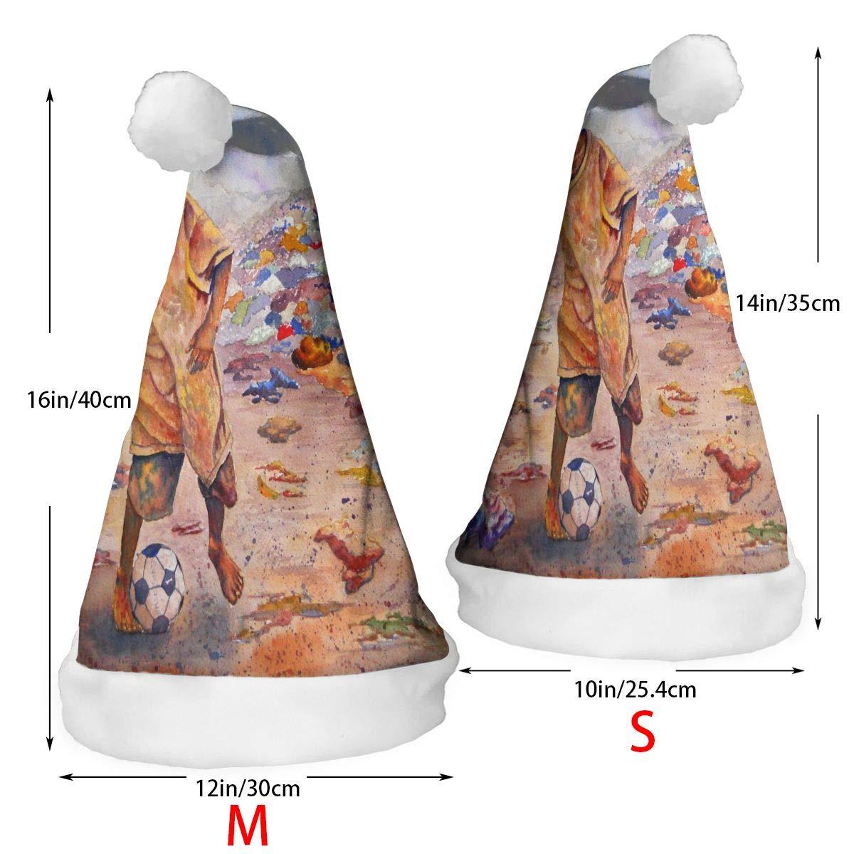 2 Pcs Decor Christmas Hat Bright Light in Space Santa Xmas Cap Cosplay Decorations