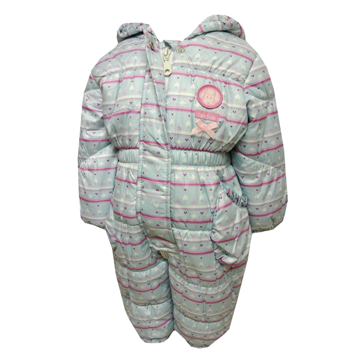 Outburst - Snow overall snowsuit baby girl fleece lining waterproof, light blue
