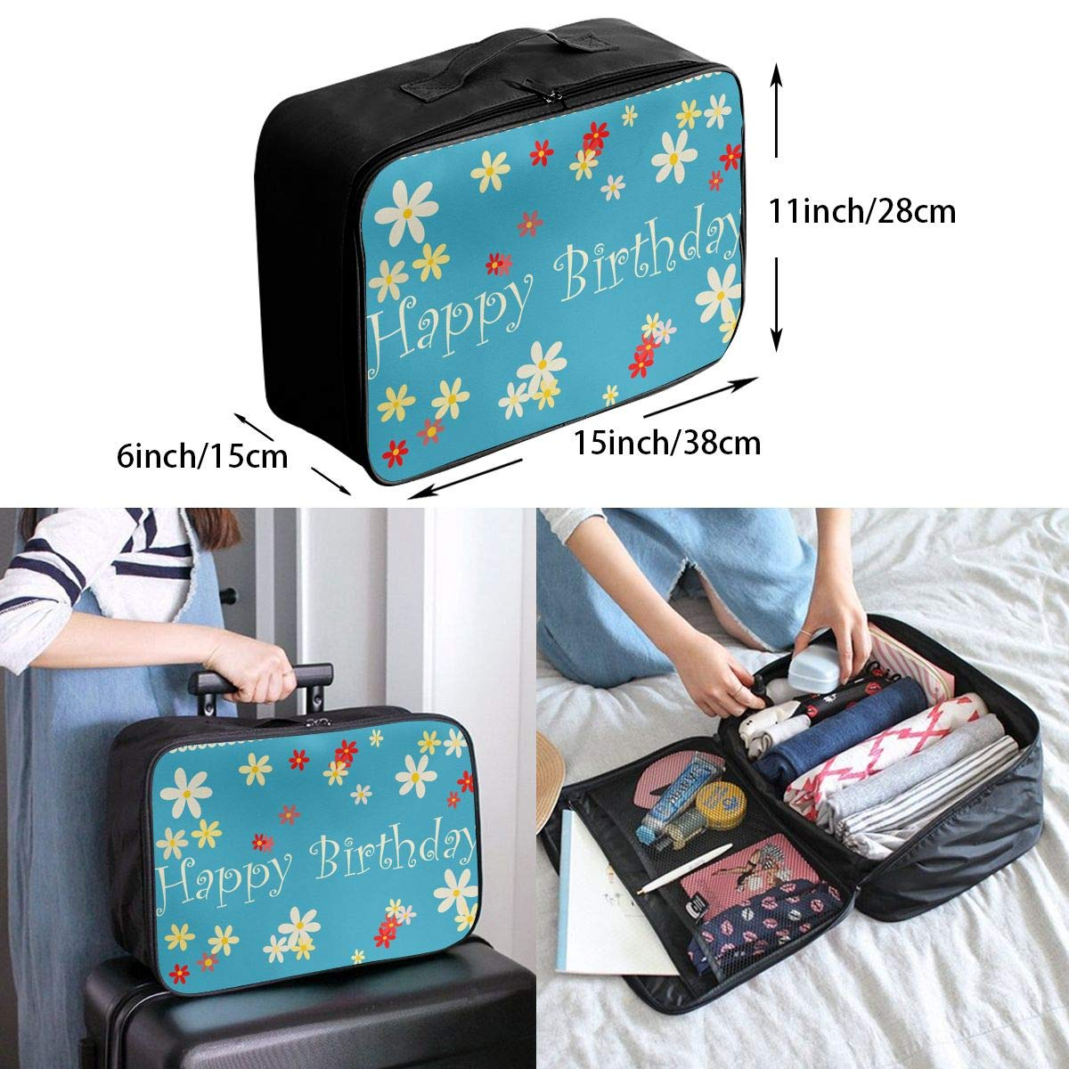 Travel Luggage Duffle Bag Lightweight Portable Handbag Guitar Large Capacity Waterproof Foldable Storage Tote